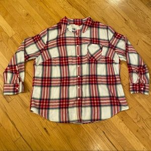 Ava & Viv Plaid Cotton/Rayon Shirt Size 2XL